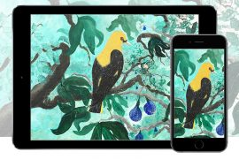 Tropical Bird & iPhone iPhone Wallpaper