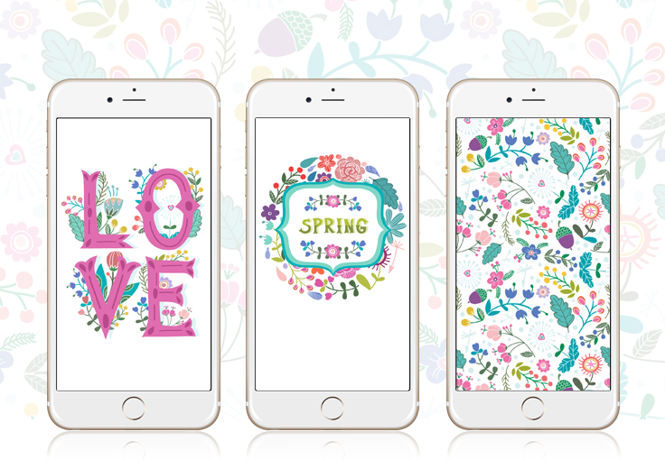 Hello Spring iPhone Wallpaper Collection
