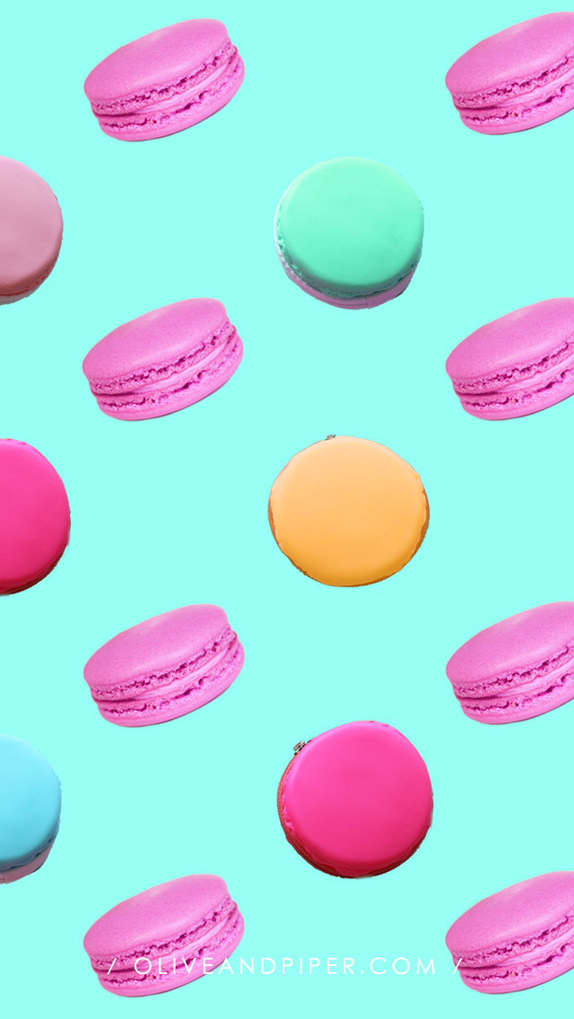 Sparkling macaron iphone wallpapers by olive piper - Macaron iphone wallpaper ...