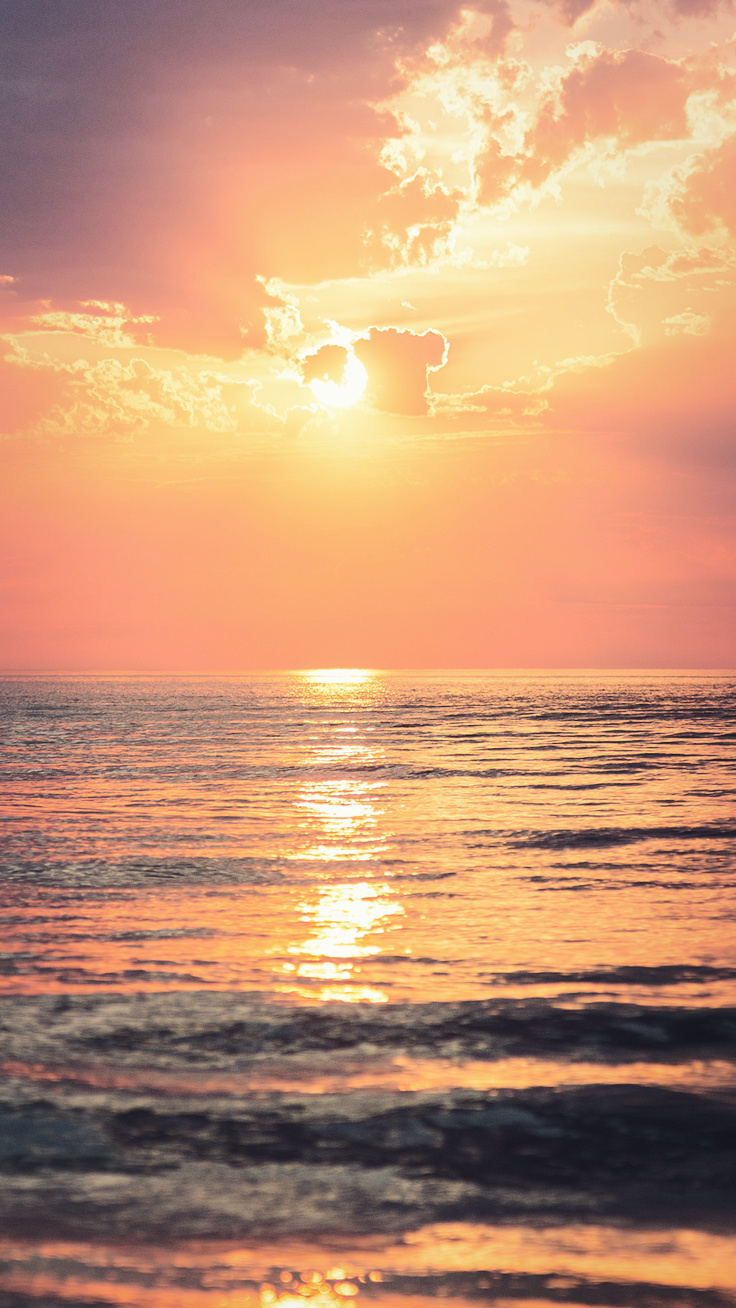 Summer Ocean Sunset Iphone Wallpaper Download It At Www
