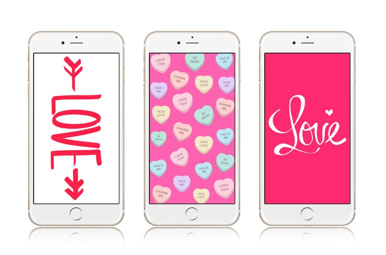 12 Super Cute Valentine S Day Iphone Wallpapers Preppy Wallpapers