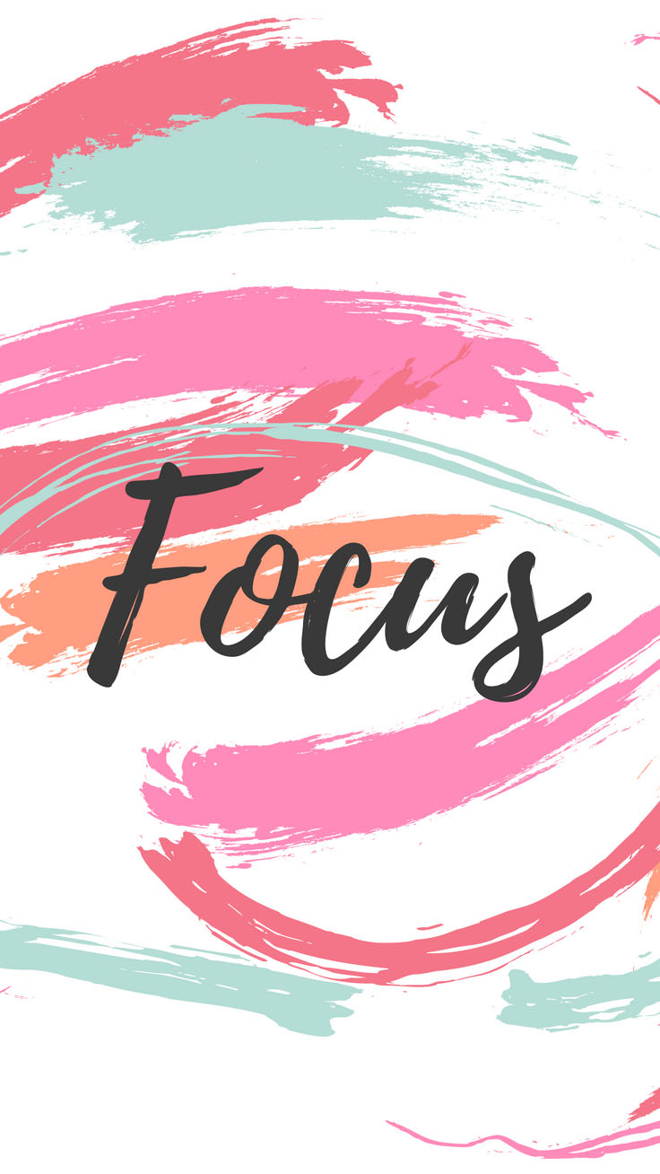 Focus | Girl Boss iPhone Wallpapers by PreppyWallpapers