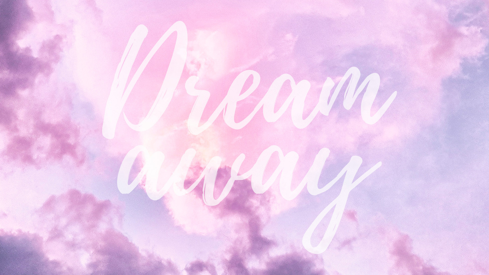 Dream Away Quote Desktop + Mac Wallpaper by preppywallpapers.com
