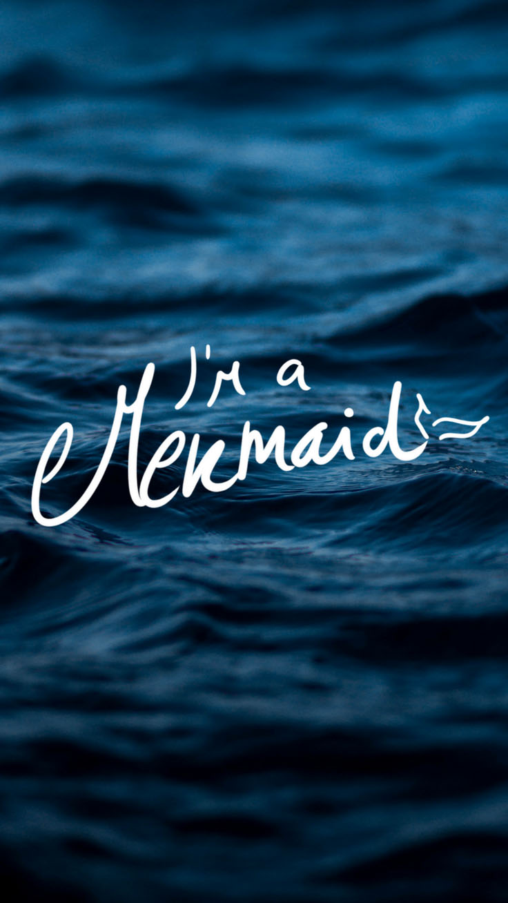 I'm a Mermaid iPhone X Wallpaper by Preppy Wallpapers