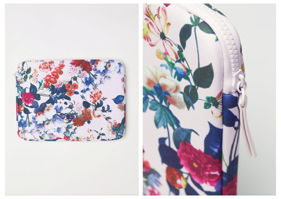 H&M Laptop Bag MacBook Floral Pattern