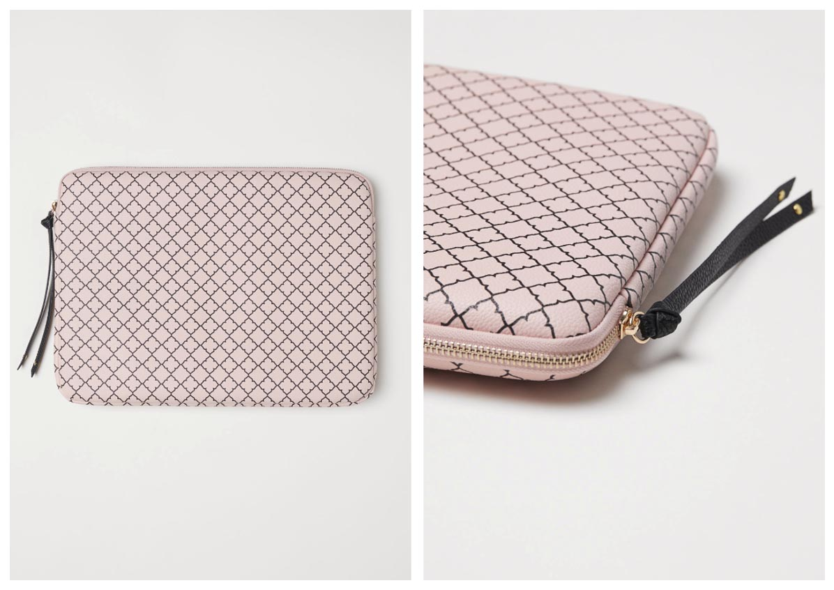 H&M Laptop Bag MacBook Powder Pink
