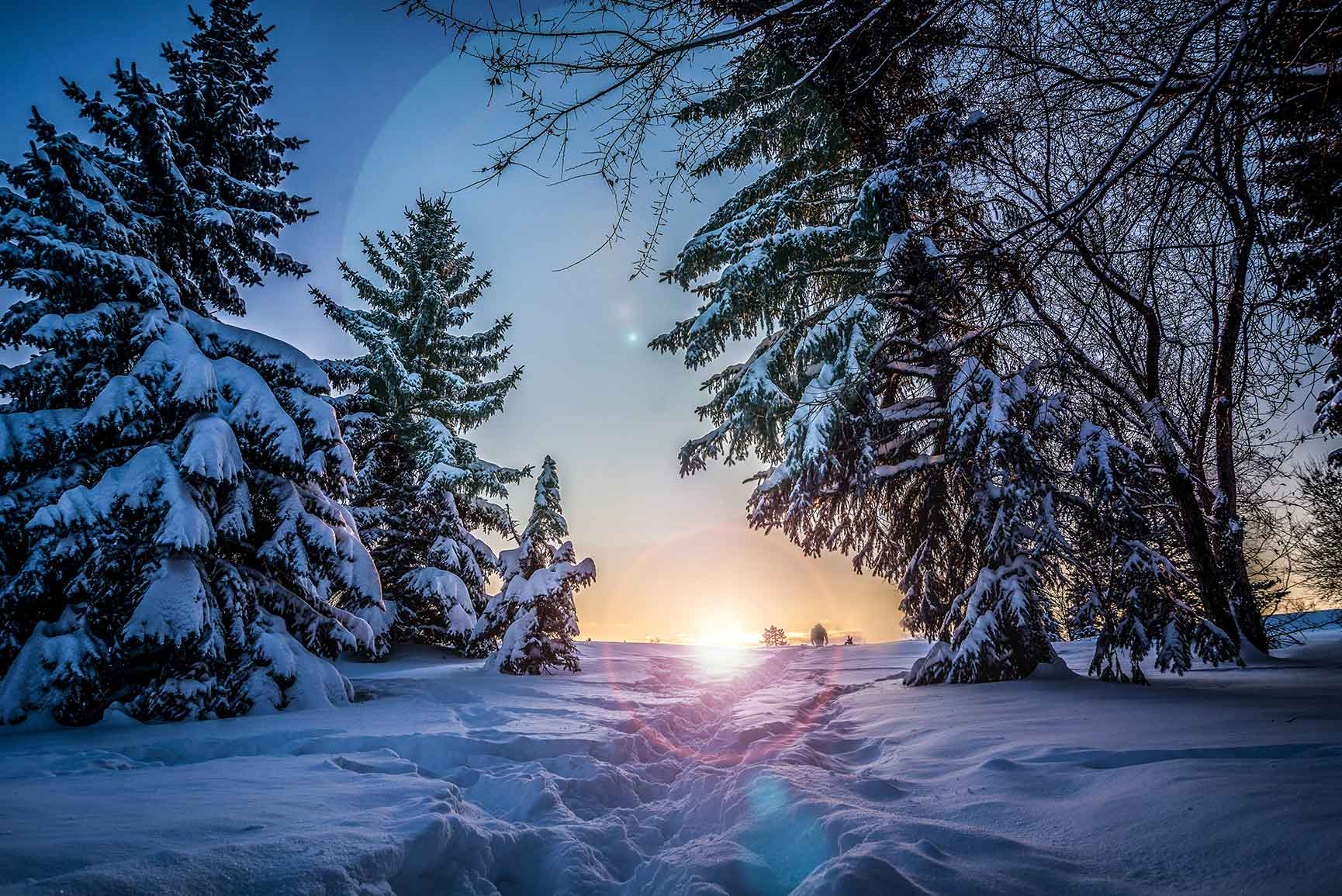 10 x Winter Wonderland iPhone Xs Wallpapers
