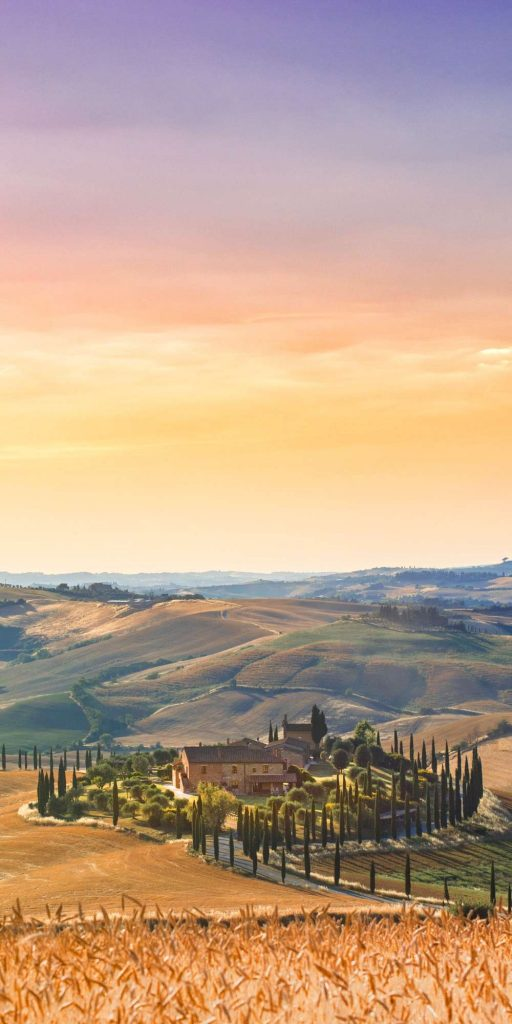 Tuscany is the best region to experience the Italian countryside. The views and the wine are amazing!