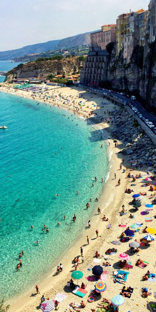 Tropea is partly built on a cliff and the views from the top are breathtaking! A bit of a climb though…